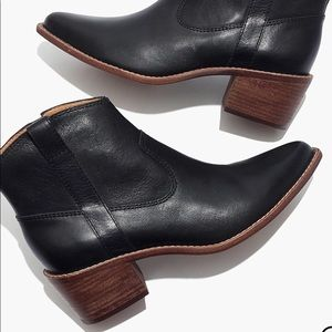 Madewell Hailie Boot in Black Leather